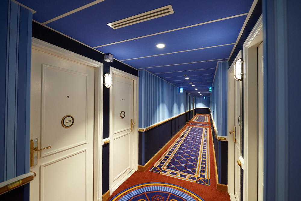 Compass Club refurbed hallway, Disneys Newport Bay Club
