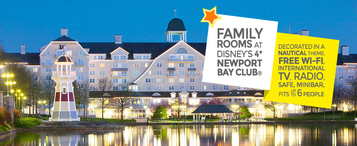 Disney's Newport Bay Club family rooms