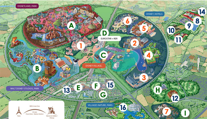 Disneyland Paris Map on