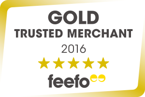 Feefo Gold Trusted Merchant 2016 Accreditation